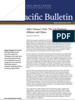 After Obama's Visit- The US-Thailand Alliance and China