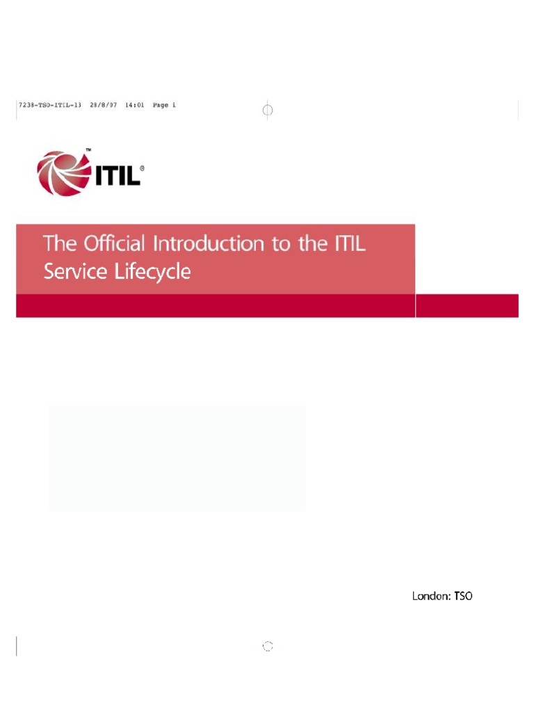 Itil V3 Service Lifecycle Introduction Itil