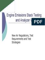 Engine Emissions Stack Testing