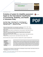 Teng Et Al 2013_JFMA Evolution of System for Disability Assessment Based on the ICF - A Taiwanese Study