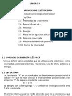 Unidad II Unidades de Electricidad