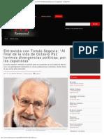 Entrevista con Tomás Segovia, Milenio, 13-11-11