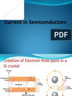 Current in Semiconductors