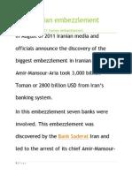 2011 iranian embezzlement