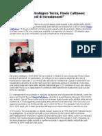Energia Piano Strategico Terna Flavio Cattaneo Previsti 5 Miliardi Di Investimenti