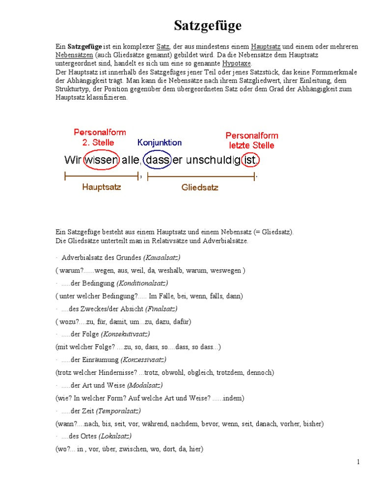Satzgefüge   PDF