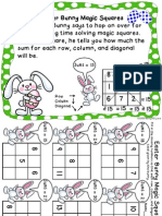 Easter Magic Squares Addition