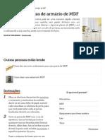 Como fazer portas de armário de MDF _ eHow Brasil
