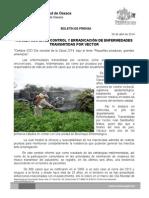 06 de abril de 2014_AVANZA SSO EN EL CONTROL Y ERRADICACIÓN DE ENFERMEDADES TRANSMITIDAS POR VECTOR