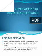 Applications of Marketing Research