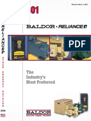 Baldor Catalog | Electric Motor | Rectifier on