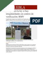 07-04-2014 Milenio.com - Se aplicará la ley si hay irregularidades en centros de verificación, RMV.