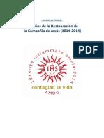 RESTAURACIÓN DE LA COMPAÑÍA DE JESÚS 200 AÑOS Dossier 2014