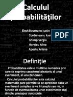 Calculul probabilităţilor