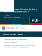 Michelle Lau (ONU), Presentación en la Conferencia Parlamentaria Internacional Bolivia 2014 - Consentimiento libre y con conocimiento de causa