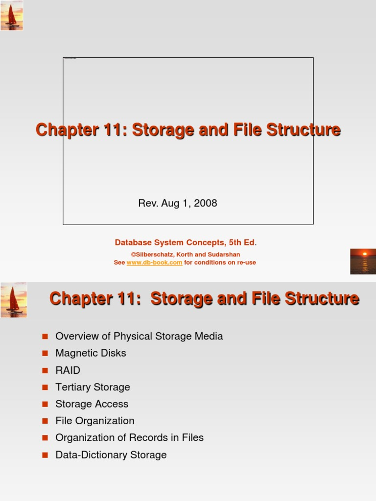 11  Storage And File Structure