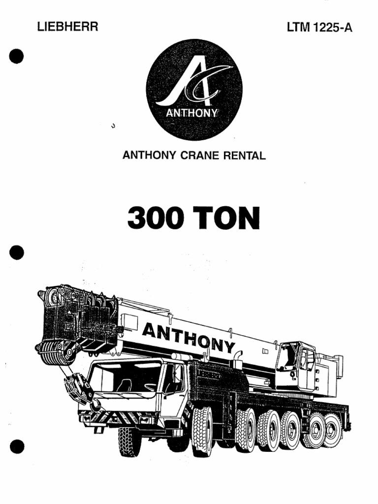 Liebherr LTM 1225-A: Anthony Crane Rental
