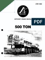 500 Ton LTM 1400 Liebherr