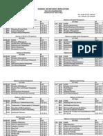 SU Examnination Schedule