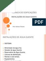 TÉCNICA DE EDIFICAÇÕES - ÁGUA QUENTE