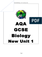 AQA Biology Core science (Unit1) Summary notes