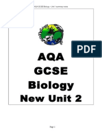 AQA Biology Additional science (Unit2) Summary notes