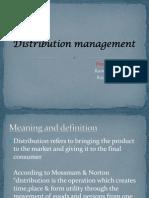 Distribution Management