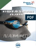 Brochure natation