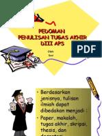 Pedoman Penulisan Kaya Ilmiah APS FISIP UNDIP (Rapat d3 Okt 09)