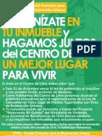 Organízate en tu inmueble y hagamos juntos del Centro de Lima un mejor lugar para vivir