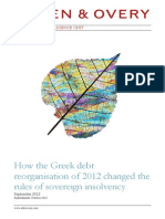 How the Greek Debt Reorganisation of 2012 Changed the Rules of Sovereign Insolvency