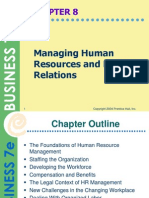 3. Managing Human Resources and Labor Relations
