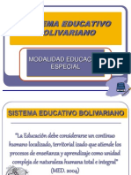 Sistema Educativo Bolivariano Educ Espec2