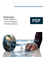 Contemporary Issues of Globalization