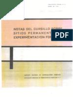 Notas del Cursillo sobre Sitios Permanentes de Experimentación Ftal. Castaños Martínez., L. J. et al. 1969