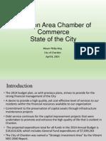 Chardon State of the City presentation