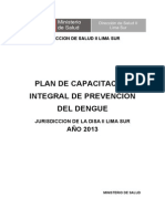 Plan Integral Del Dengue 2013