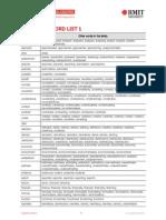 Academic Word Sublist 1