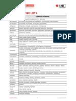 Academic Word Sublist 8