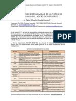 Evaluaciones Ergonomicas de La Tarea de Atortolado en El Acero de Refuerzo