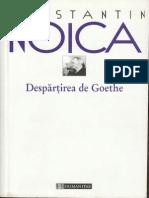 Constantin Noica, Despartirea de Goethe