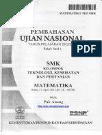 Pembahasan Soal UN Matematika SMK TKP 2013 Paket 1