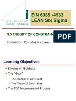 3.3 Theory of Constraints
