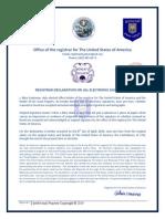 Registrar Declaration on All Electronic Signatures