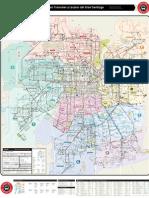 Mapa General Recorridos del Gran Santiago
