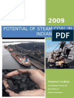 Potential of Steam Coal in Indian Market