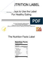 the nutrition label