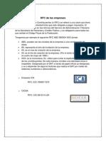 RFC de Las Empresas