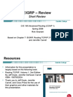 Cis185 Lecture EIGRP ShortReview