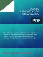 1 Modelo burocrático de organización
